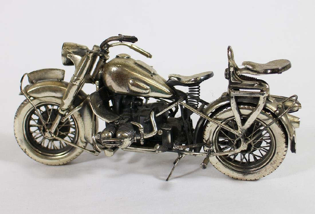 MEDUSA ORO STERLING SILVER MOTORCYCLE - 3