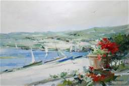 CHARLES GRUPPE FROM THE TERRACE PAINTING