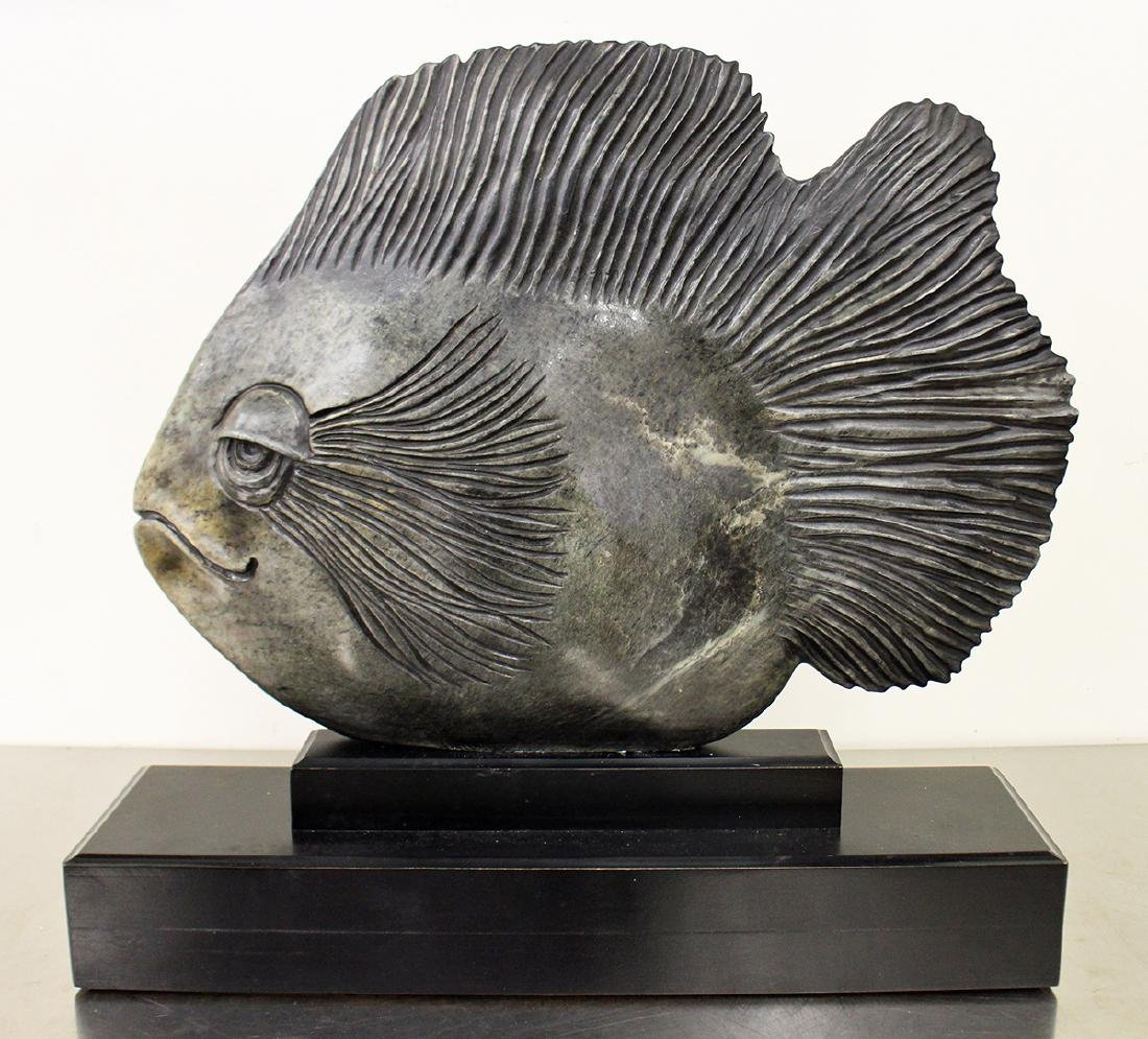 GLENN HEATH STONE FISH SCULPTURE