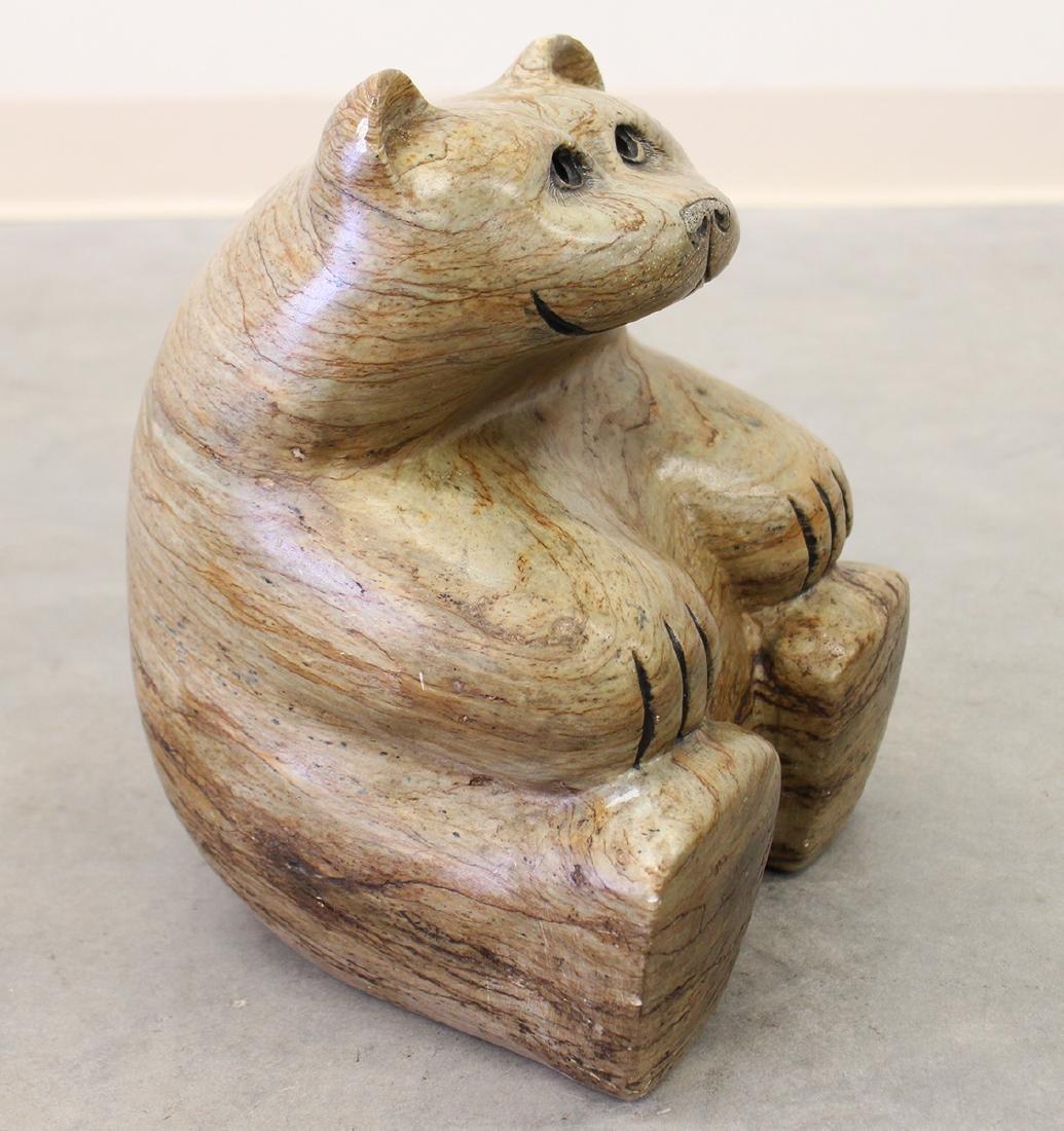 GLENN HEATH STONE BEAR SCULPTURE - 2