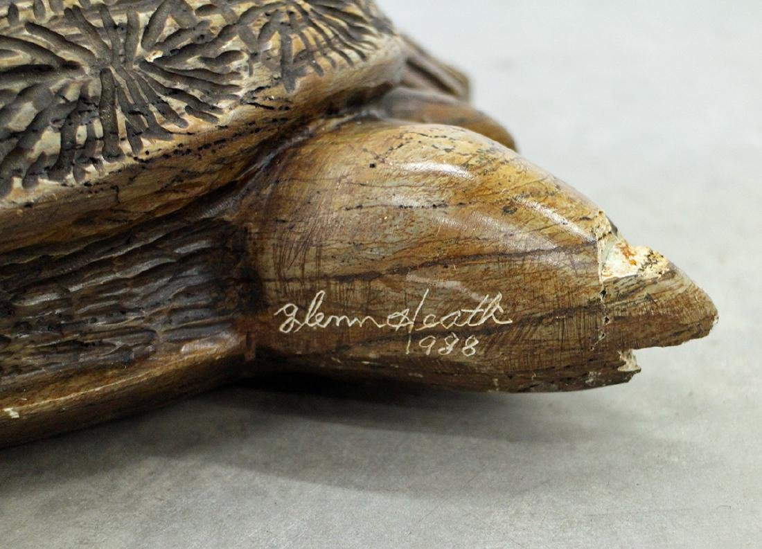 GLENN HEATH STONE TURTLE SCULPTURE - 3
