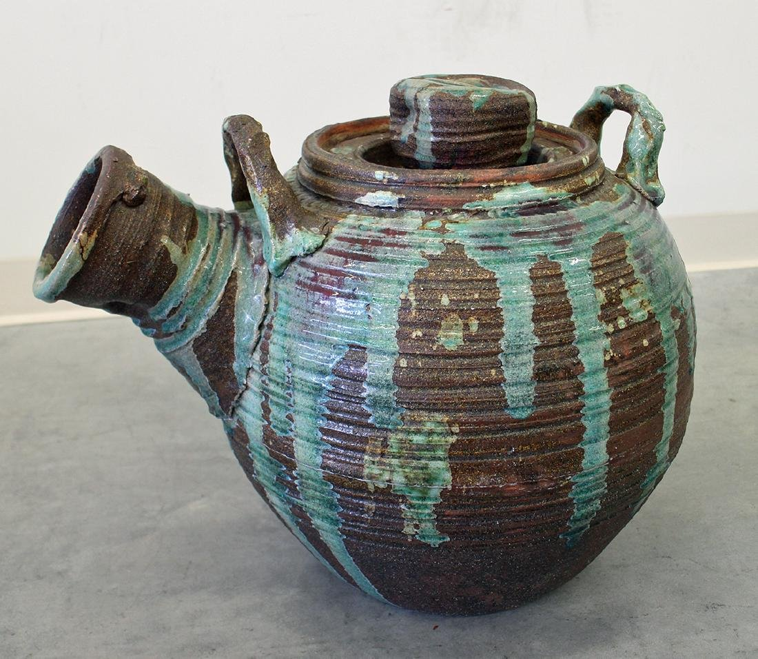 STONEWARE POTTERY WATERING CAN