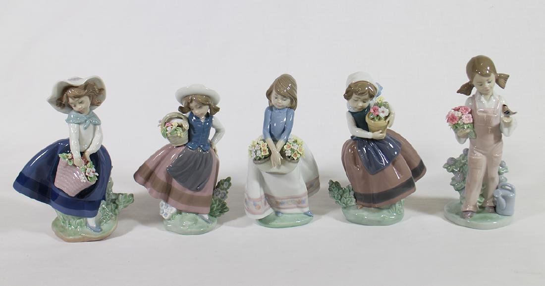 (5) LLADRO FIGURINES