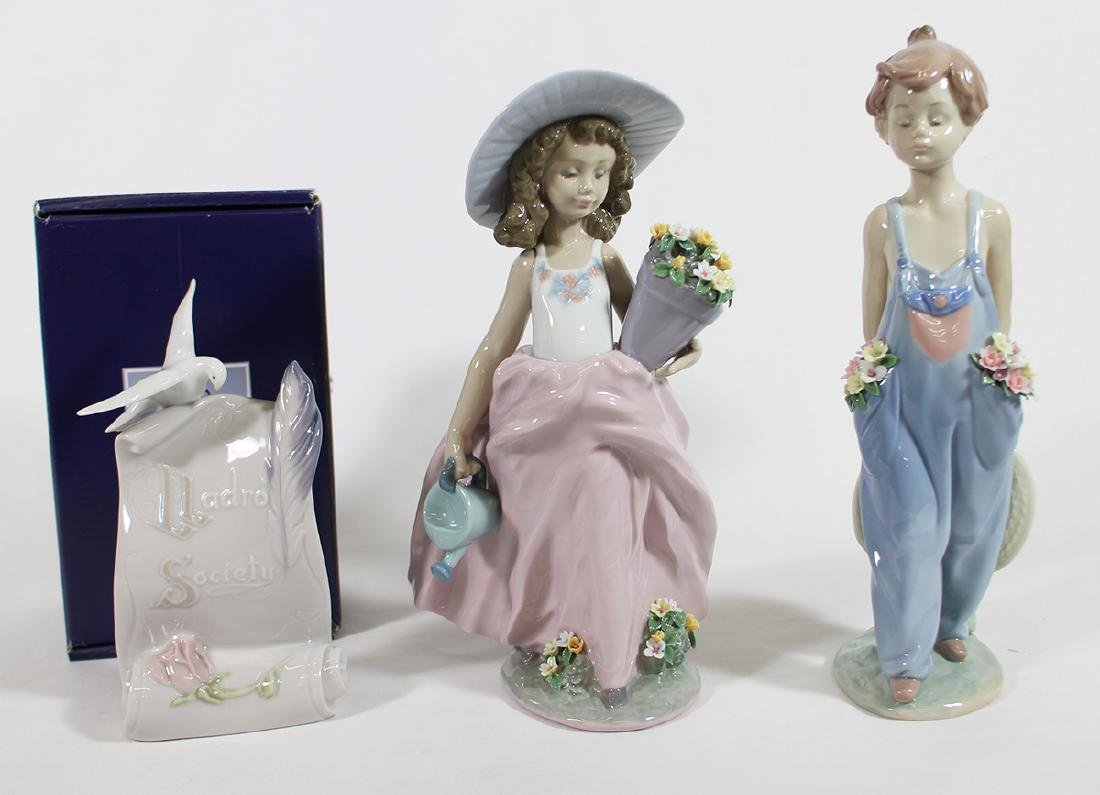 (3) LLADRO FIGURINES