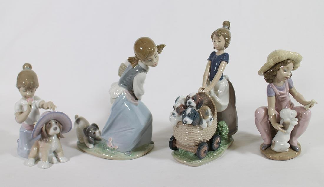 (4) LLADRO FIGURINES