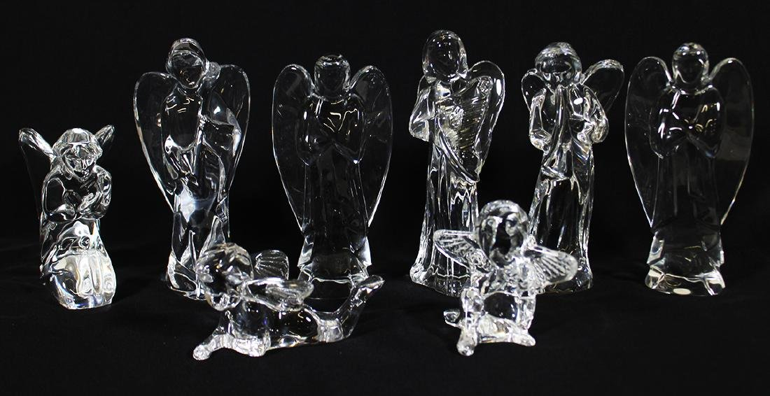 (8) BACCARAT CRYSTAL ANGELS & CHERUBS