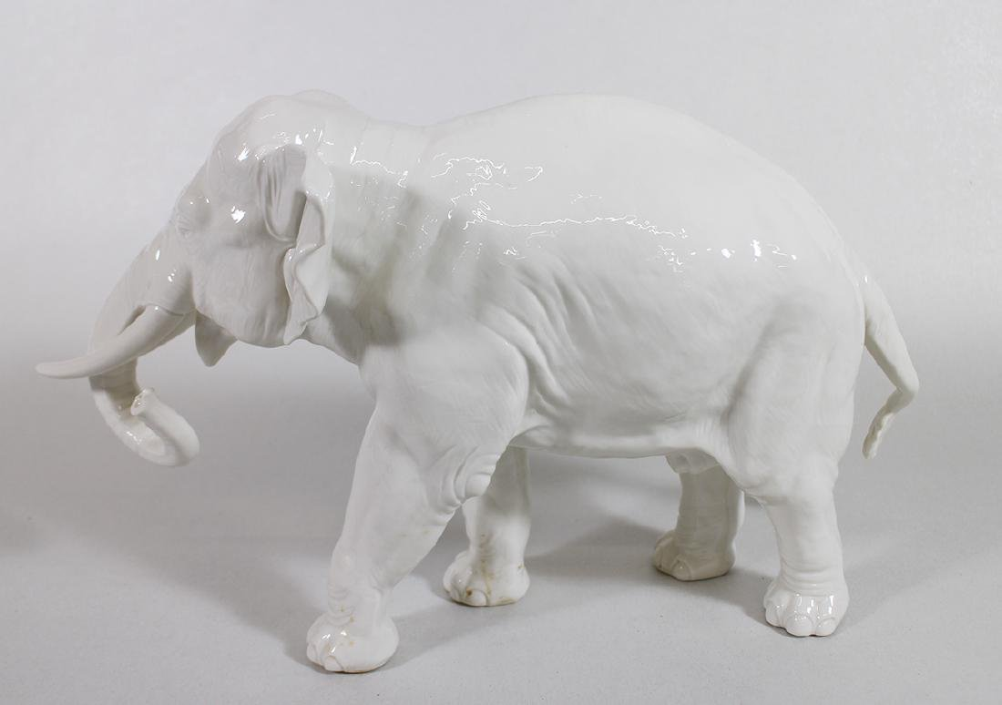LARGE NYMPHENBURG PORCELAIN ELEPHANT - 2