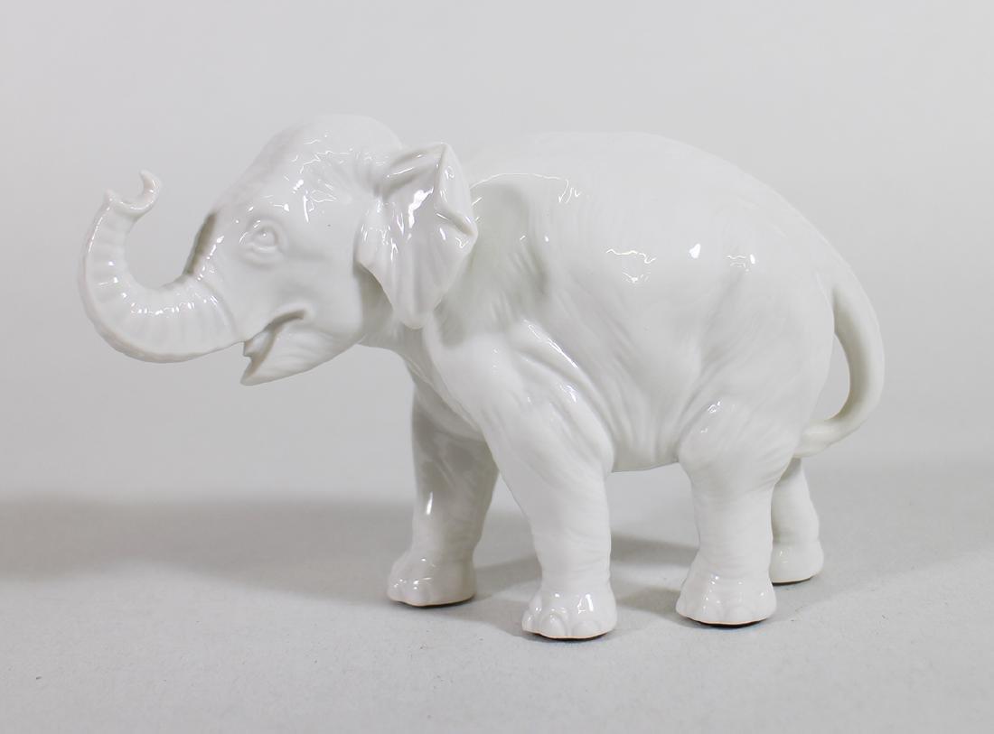 SMALL NYMPHENBURG PORCELAIN ELEPHANT