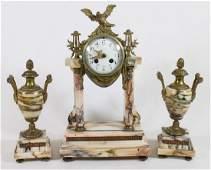 FRENCH CLOCK & GARNITURE SET