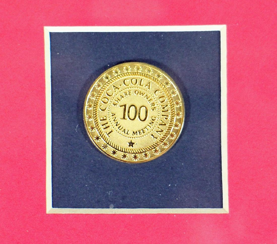 COCA COLA 100TH ANNUAL SHAREHOLDER CERTIFICATE - 3