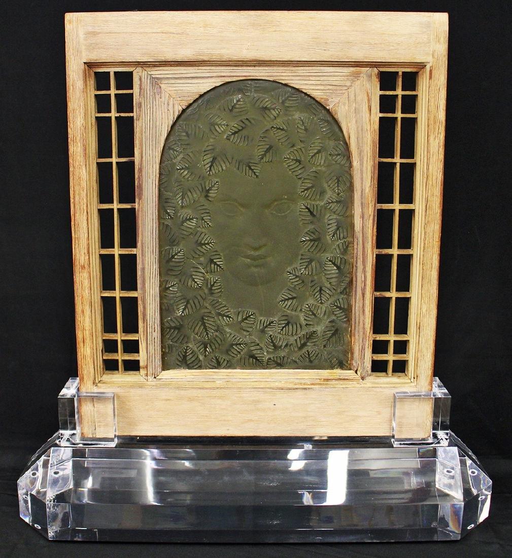 R. LALIQUE ARCHITECTURAL GLASS PANEL