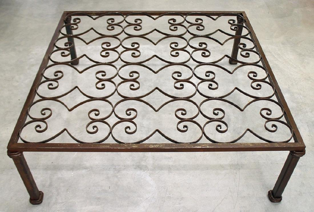 LARGE IRON COFFEE TABLE
