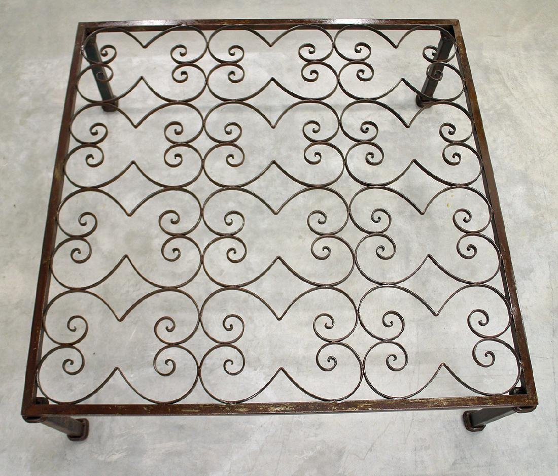 LARGE IRON COFFEE TABLE - 2
