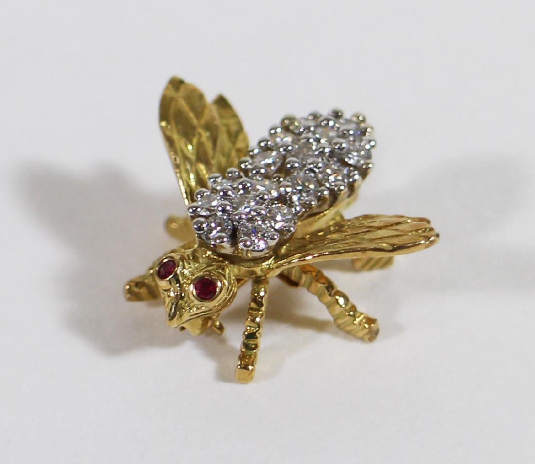 TIFFANY & CO DIAMOND BEE PIN