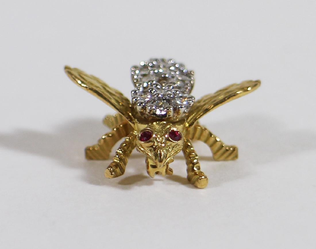 TIFFANY & CO DIAMOND BEE PIN - 2