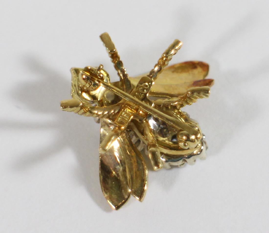 TIFFANY & CO DIAMOND BEE PIN - 4