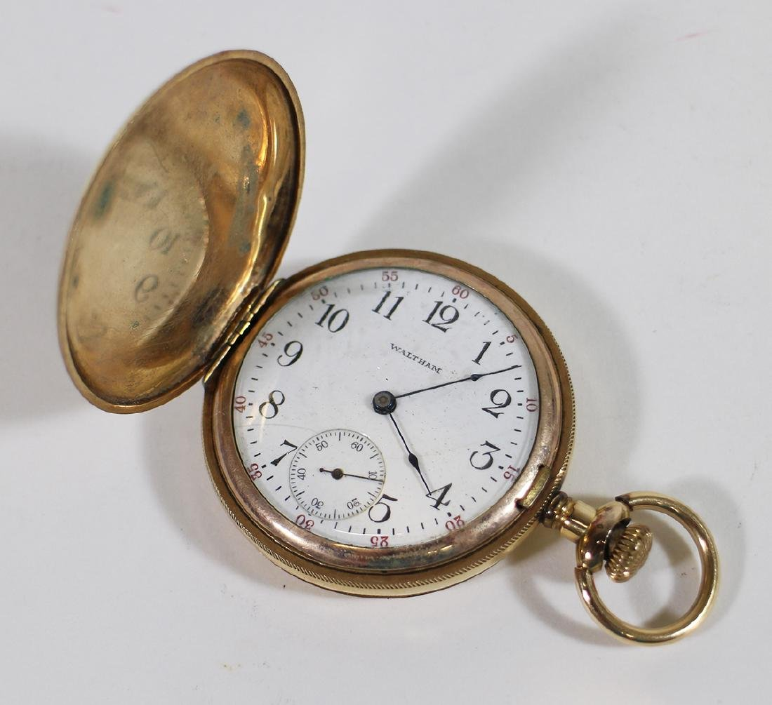 1901 WALTHAM GOLD FILLED RIVERSIDE POCKET WATCH