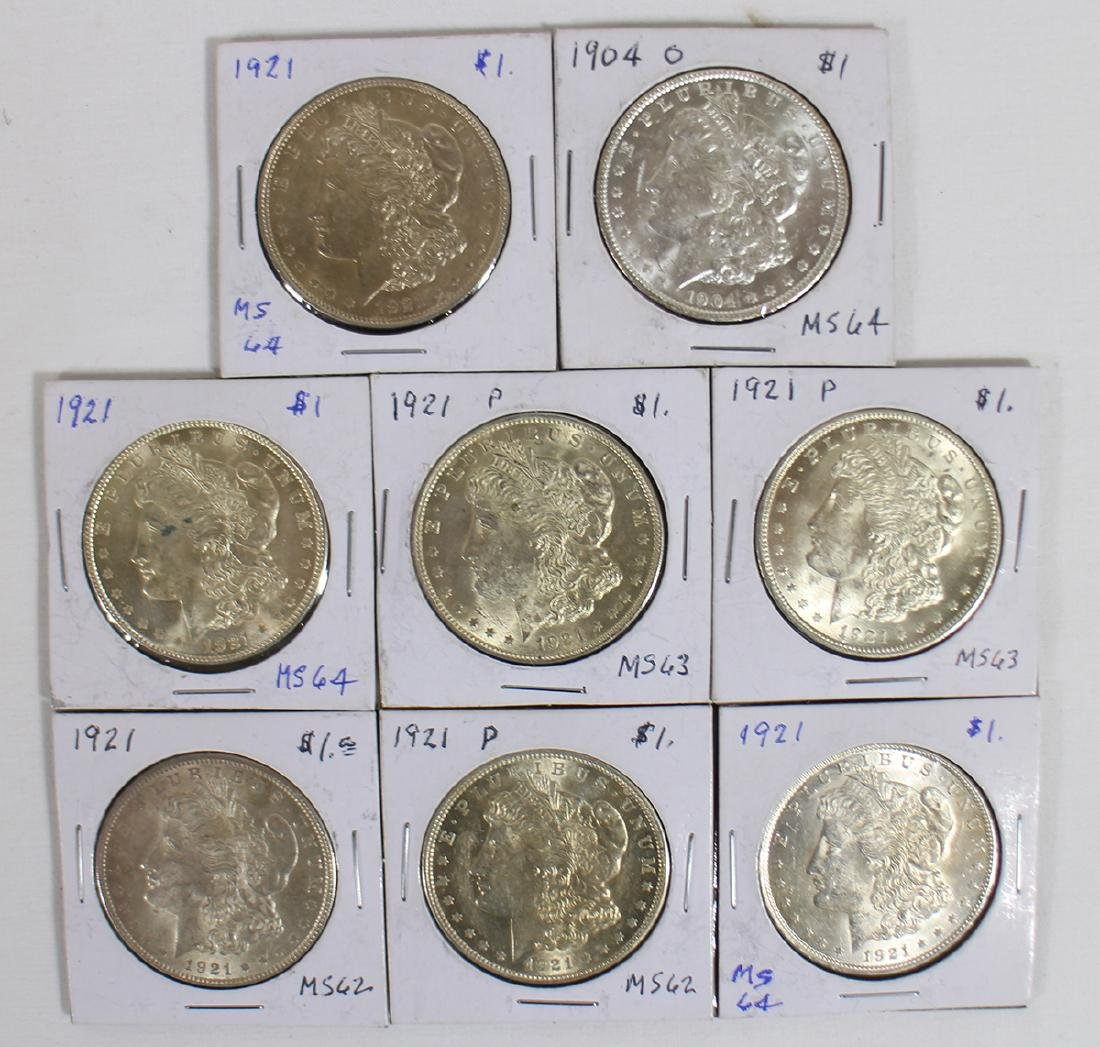 (8) MORGAN SILVER DOLLARS