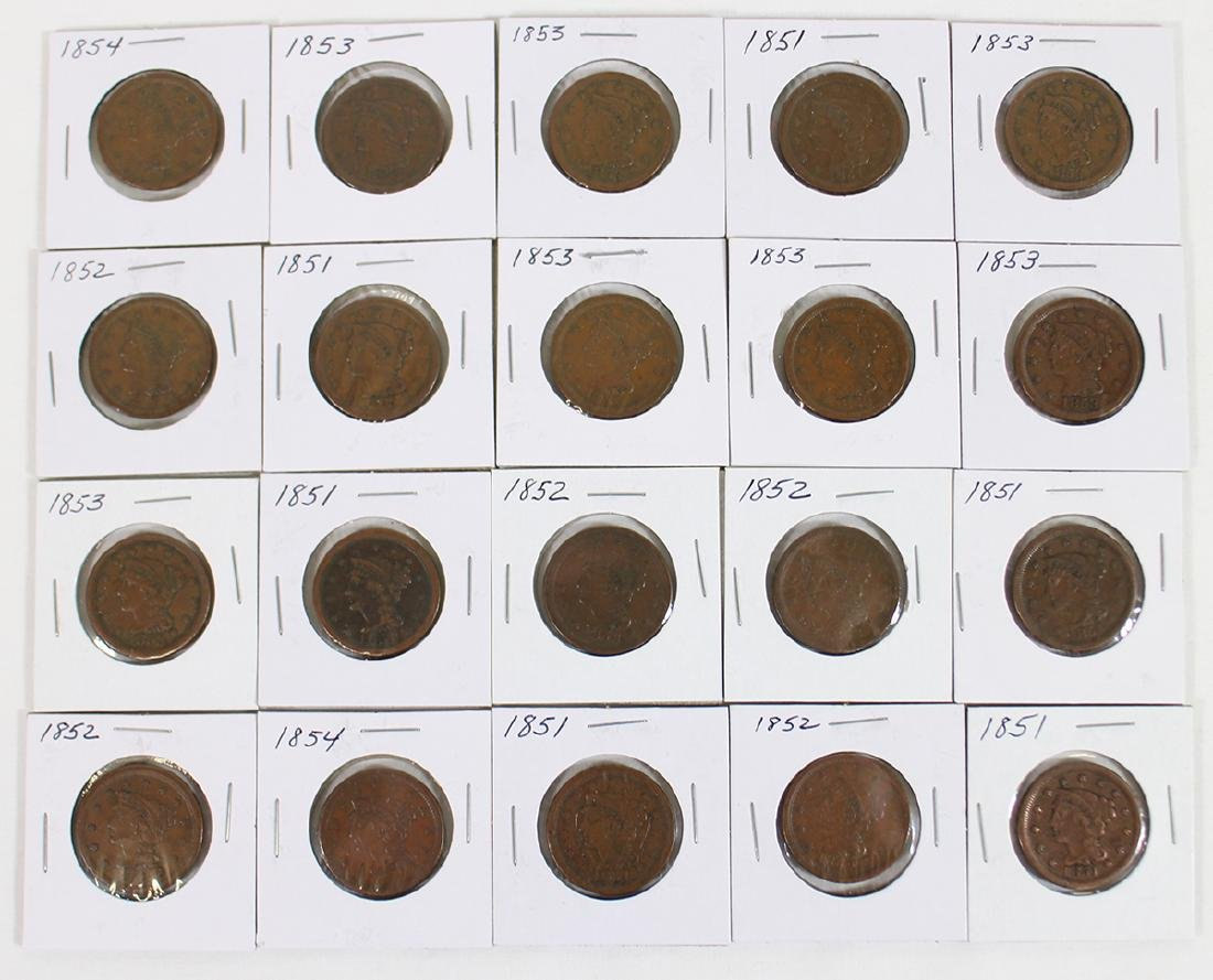 (20) LARGE CENT COINS