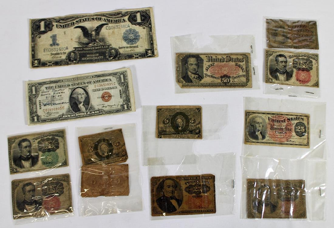 FRACTIONAL CURRENCY & LARGE US NOTES