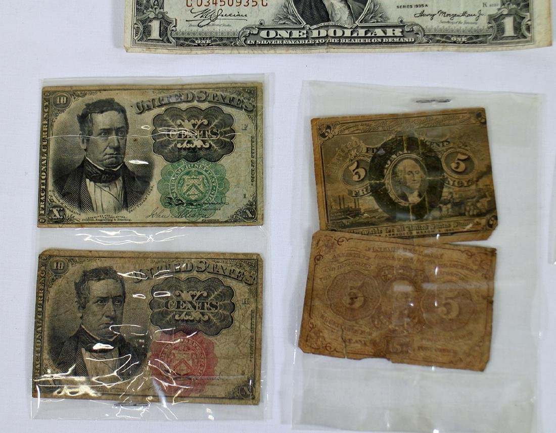 FRACTIONAL CURRENCY & LARGE US NOTES - 2