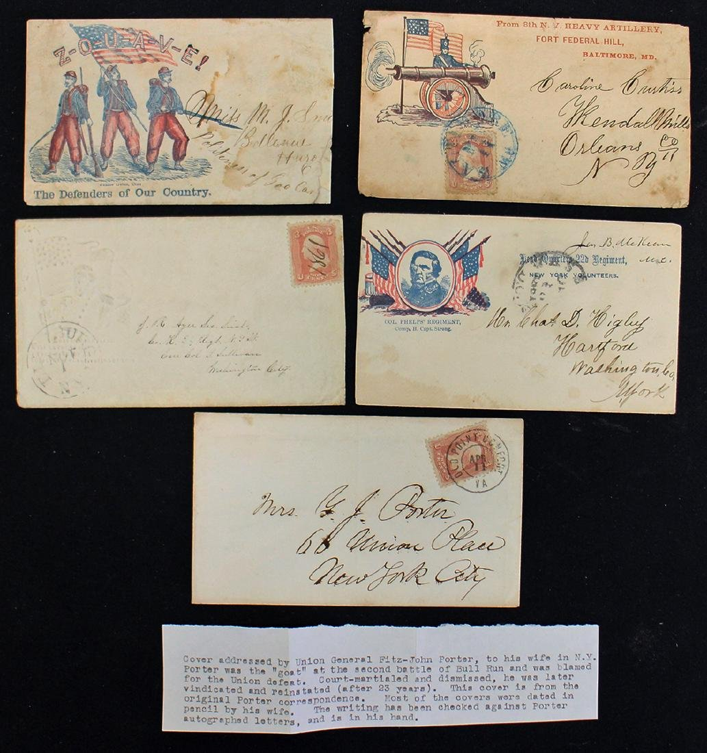 (5) CIVIL WAR ENVELOPES