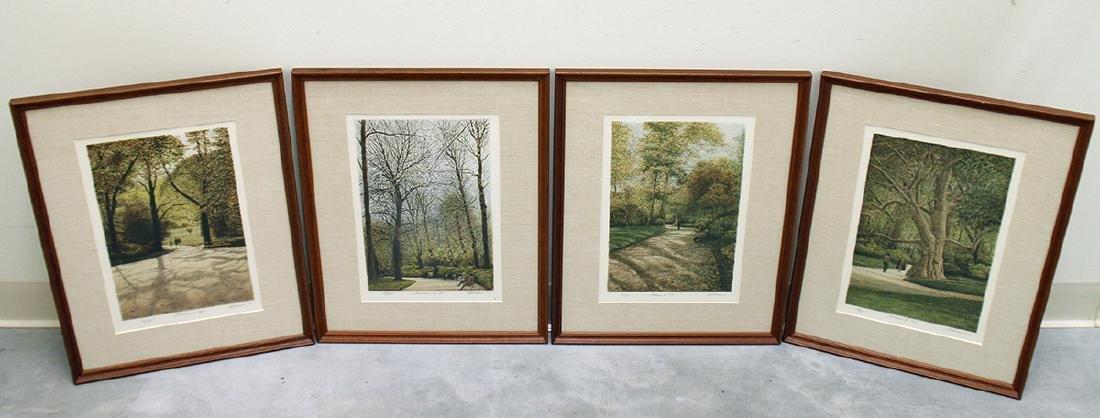 (4) HAROLD ALTMAN MONCEAU 1-4 LITHOGRAPHS
