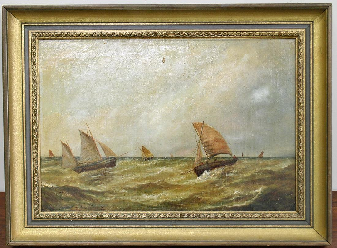 1882 SAILBOAT PAINTING