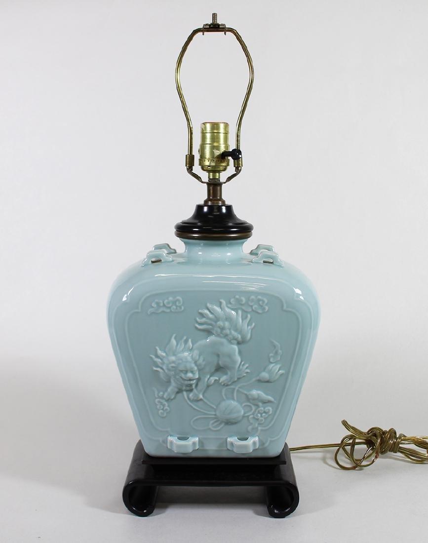 PAUL HANSON CELADON LAMP