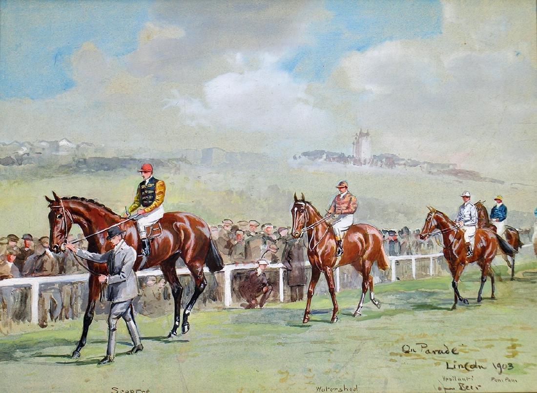 JOHN BEER HORSE RACING PAINTING