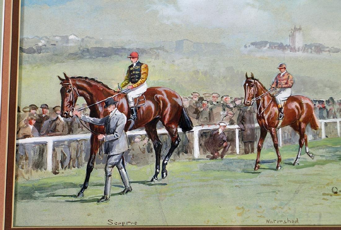 JOHN BEER HORSE RACING PAINTING - 2