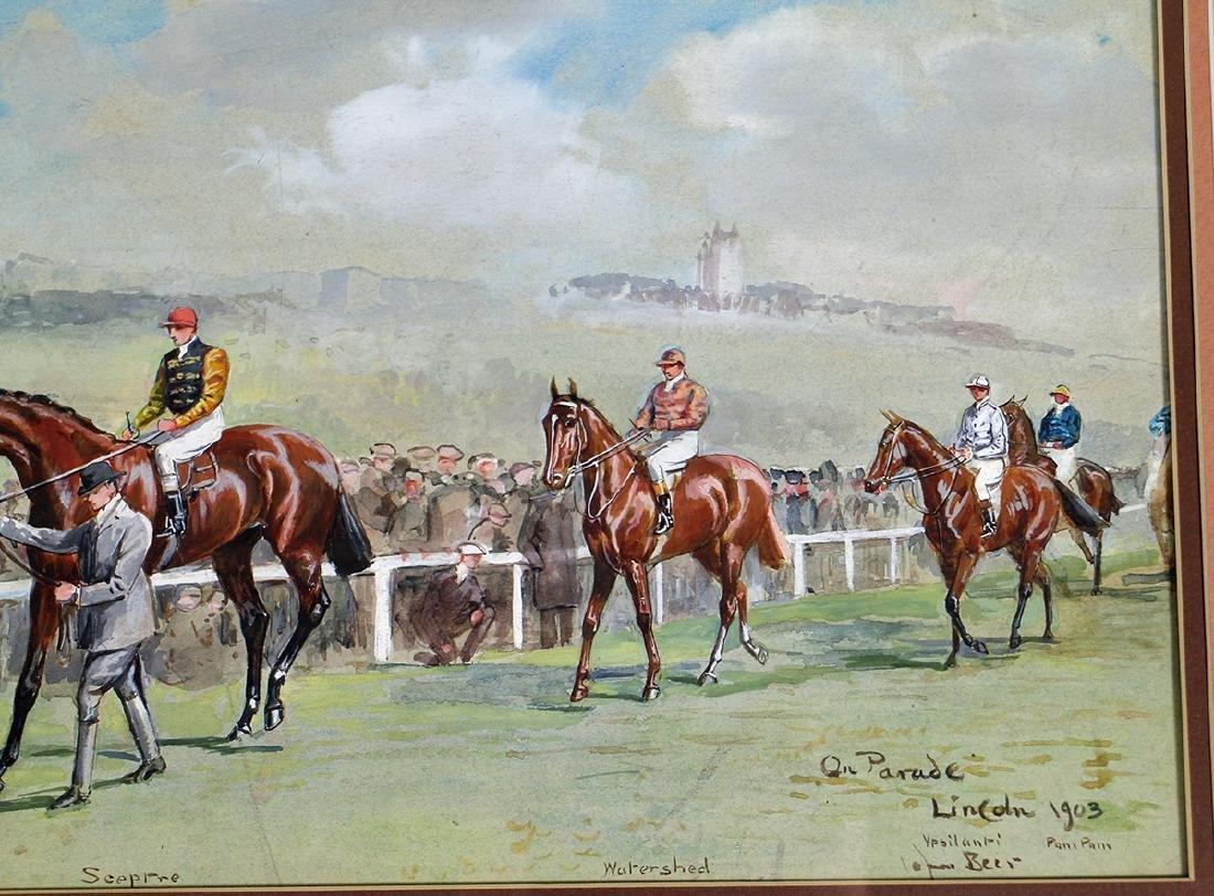 JOHN BEER HORSE RACING PAINTING - 3