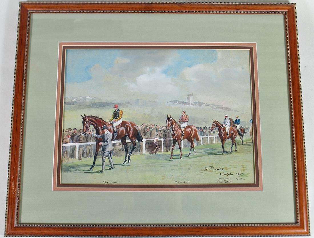 JOHN BEER HORSE RACING PAINTING - 5