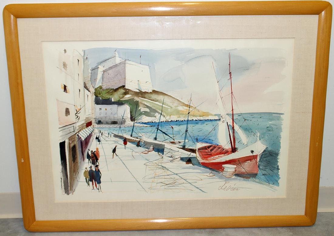 CHARLES LEVIER FRENCH COAST PAINTING - 3