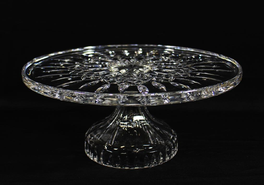 WATERFORD CRYSTAL CAKE PLATE