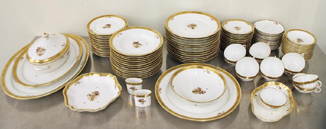 ROYAL COPENHAGEN GOLDEN BASKET CHINA SET
