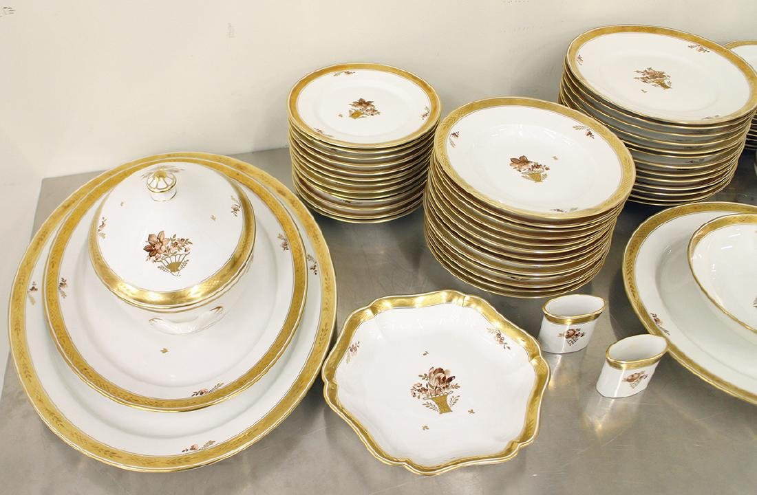 ROYAL COPENHAGEN GOLDEN BASKET CHINA SET - 2