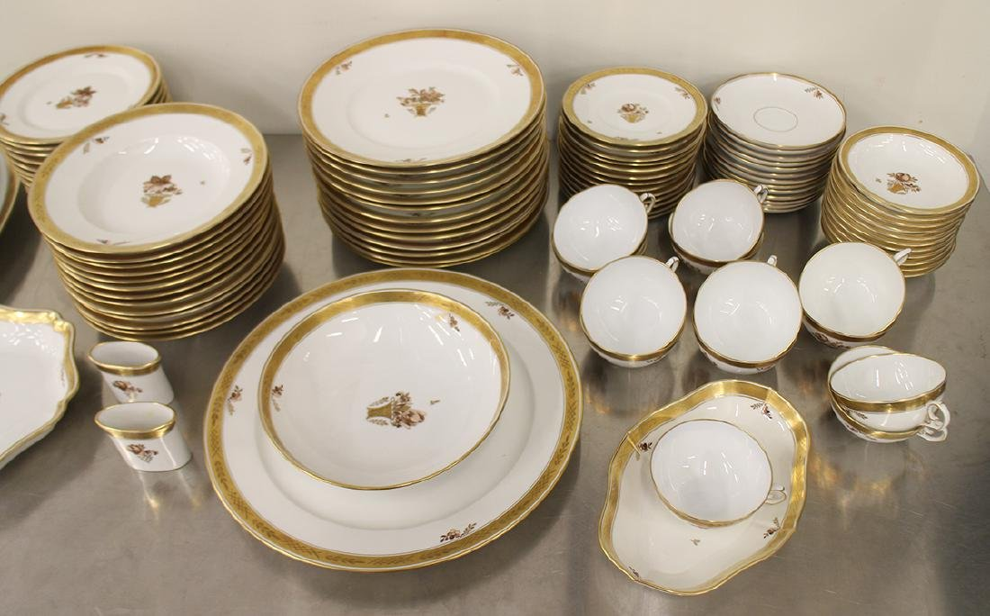 ROYAL COPENHAGEN GOLDEN BASKET CHINA SET - 3