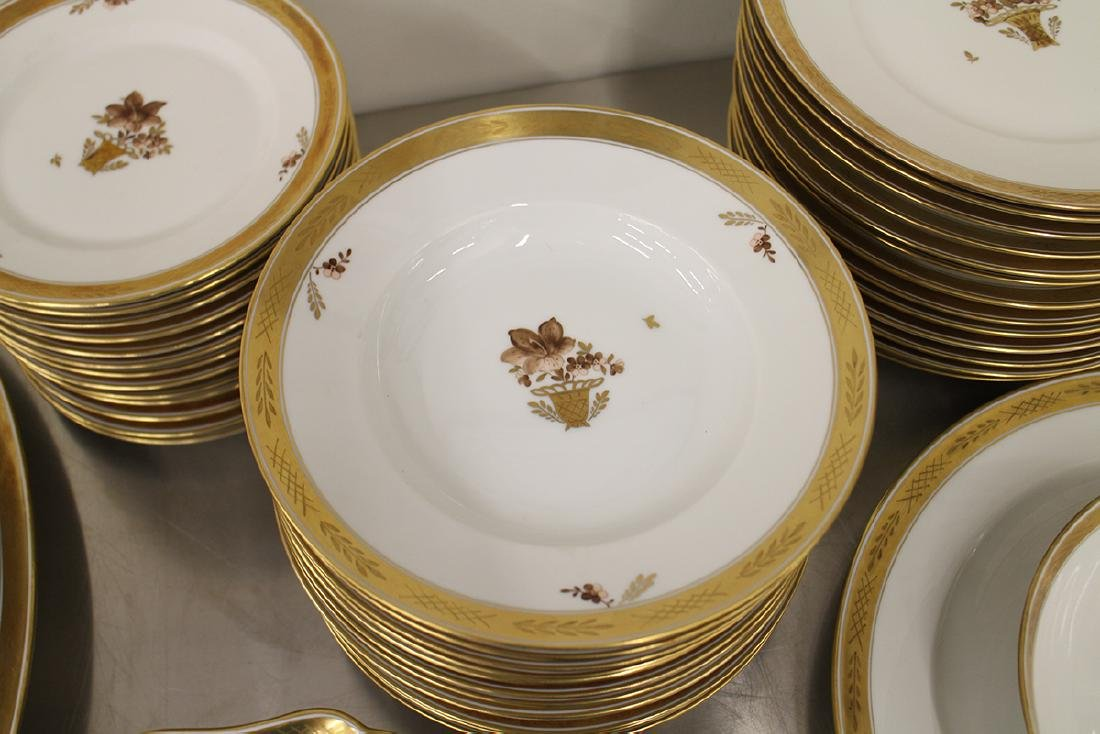 ROYAL COPENHAGEN GOLDEN BASKET CHINA SET - 4