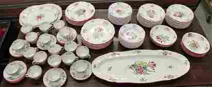109 PIECE SET OF LUNEVILLE FAIENCE CHINA