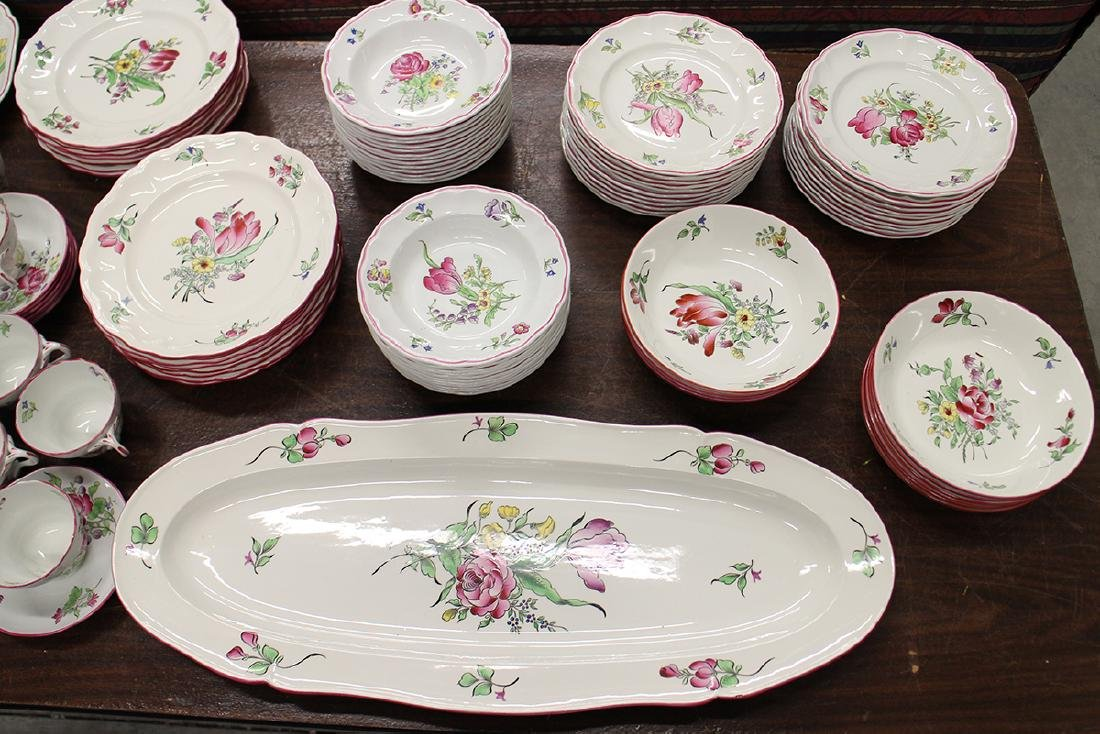 109 PIECE SET OF LUNEVILLE FAIENCE CHINA - 3
