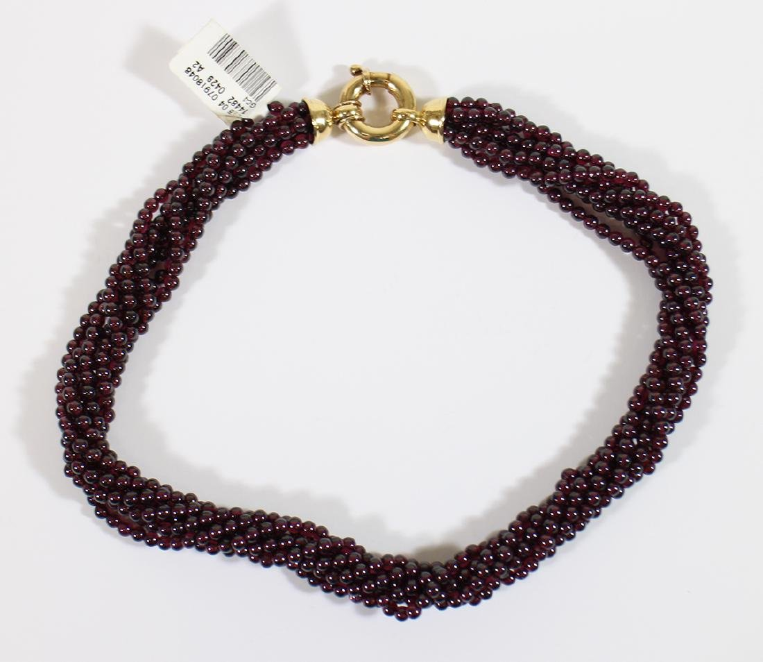 18K BEADED RUBY NECKLACE