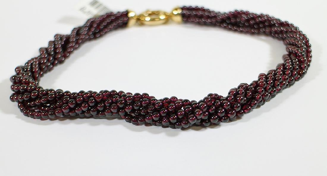 18K BEADED RUBY NECKLACE - 2