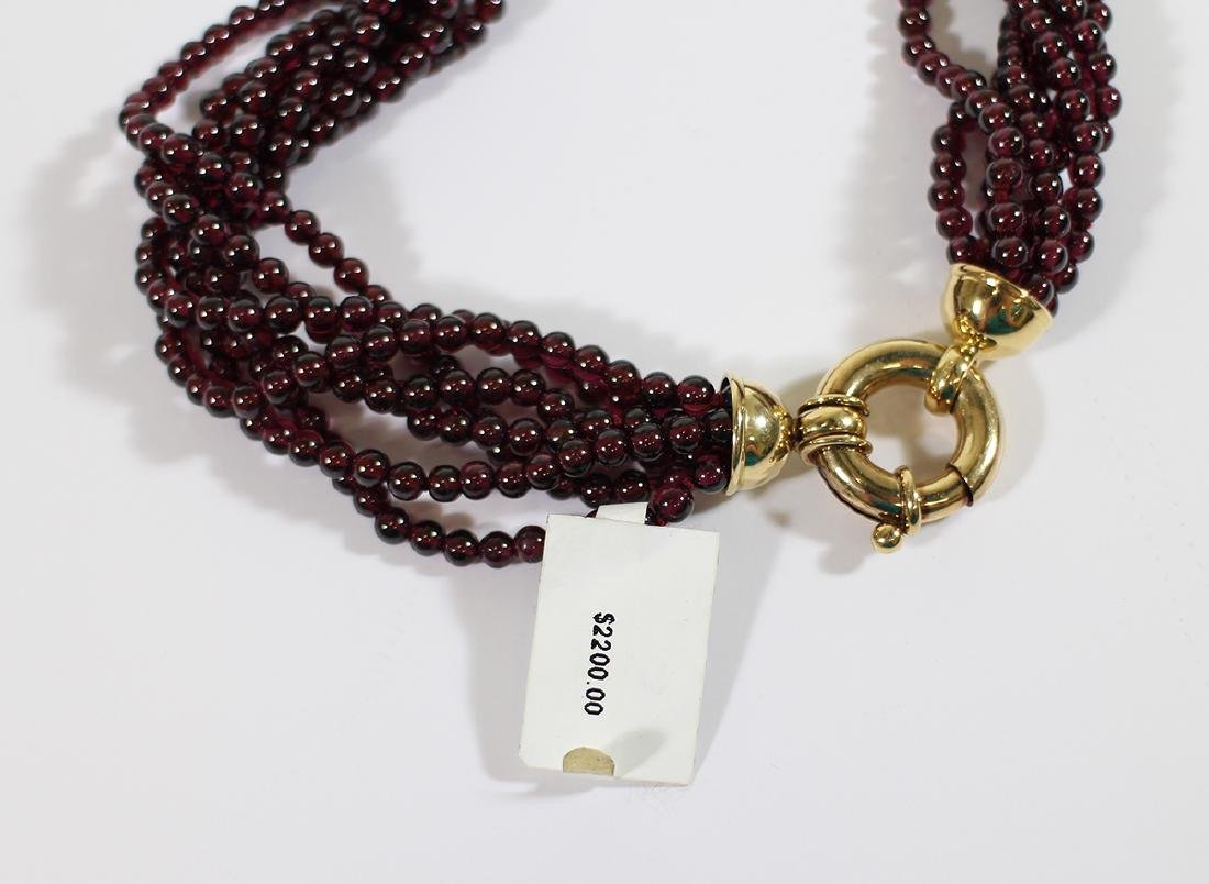 18K BEADED RUBY NECKLACE - 3