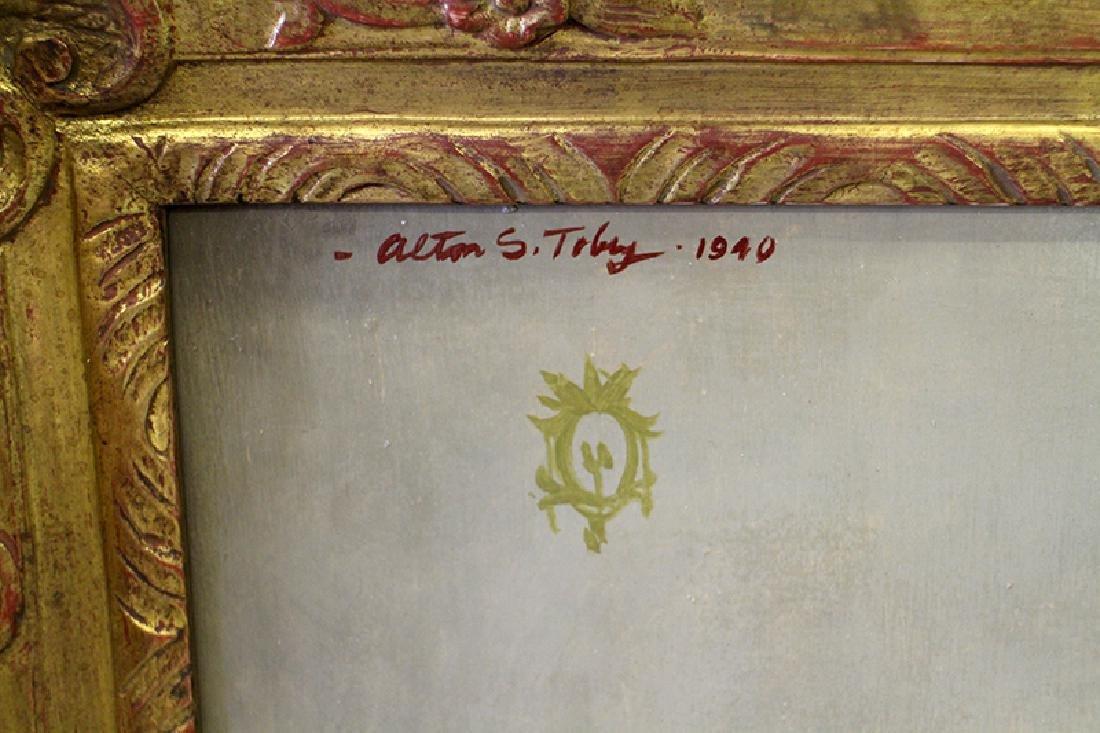 (2) ALTON S. TOBEY PORTRAIT PAINTINGS - 5