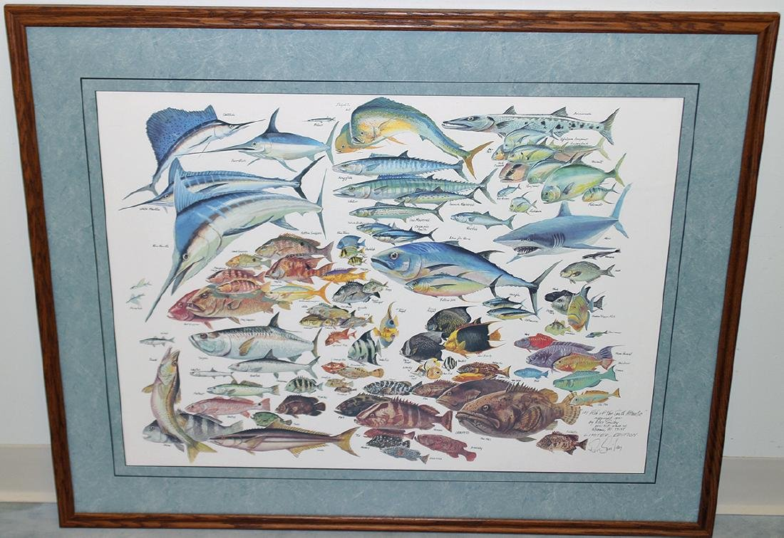 RUSS SMILEY 101 FISH OF THE SOUTH ATLANTIC ART