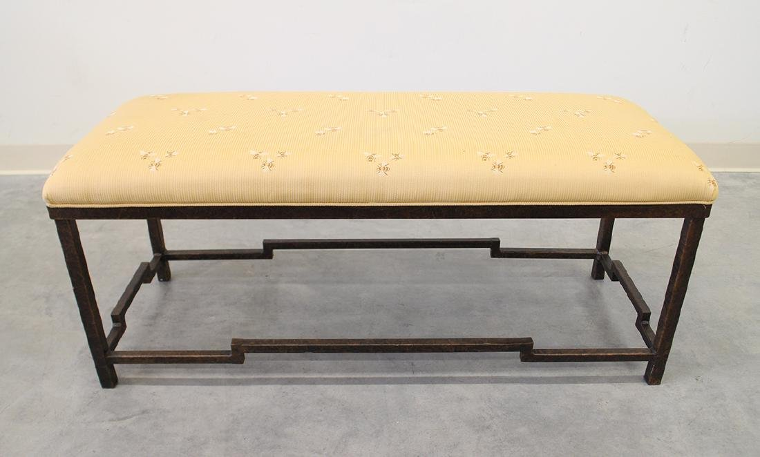 METAL BENCH WITH BUMBLE BEE CUSHION