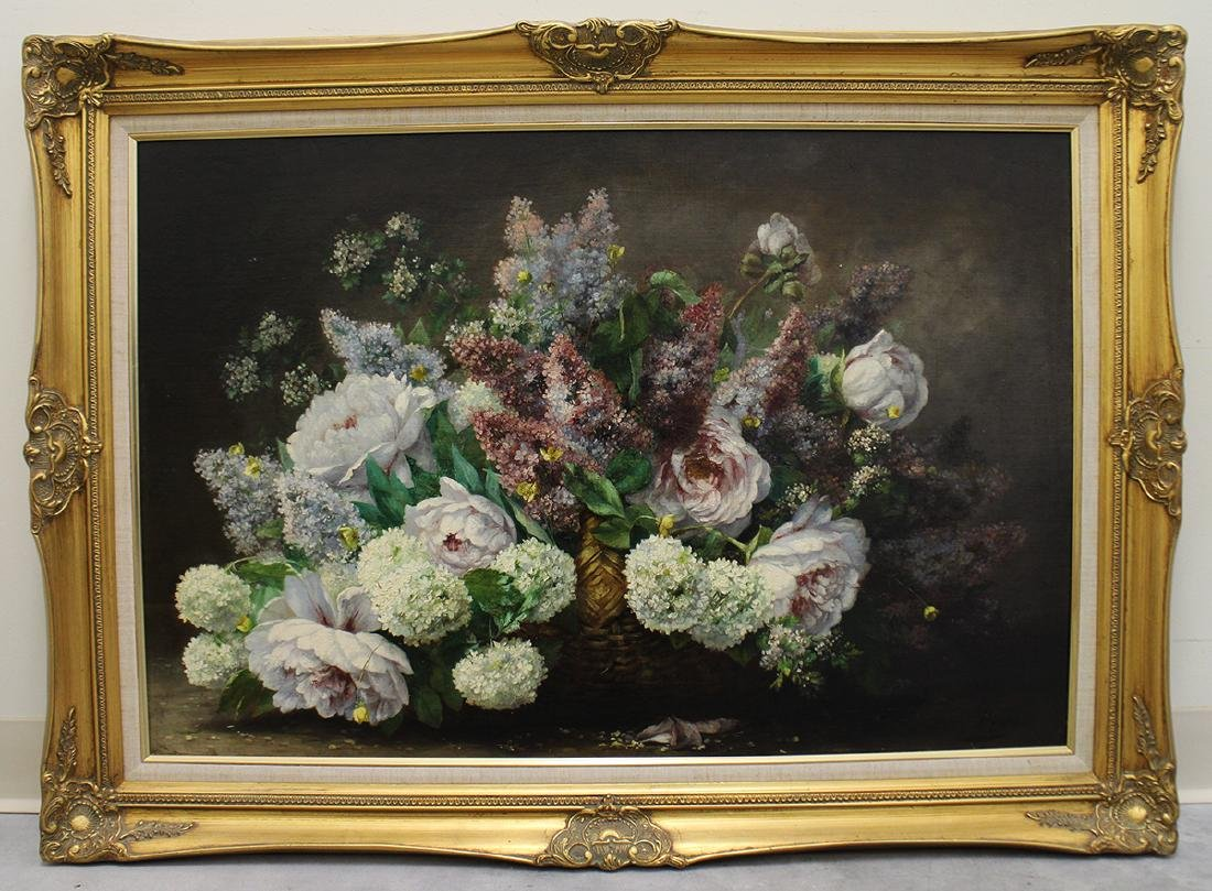 ADOLPHE BAYE STILL LIFE OIL PAINTING