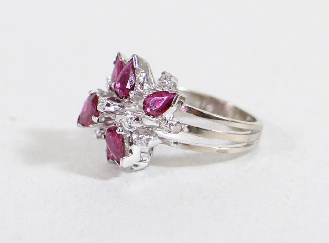 14K RUBY & DIAMOND RING - 2