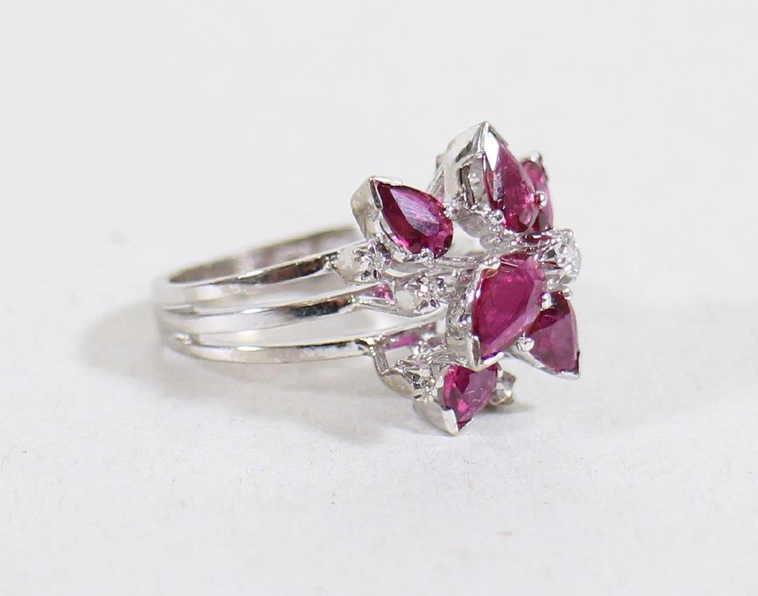 14K RUBY & DIAMOND RING - 3